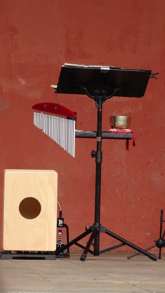 Das Instrumentarium, aber ohne Saxophon
